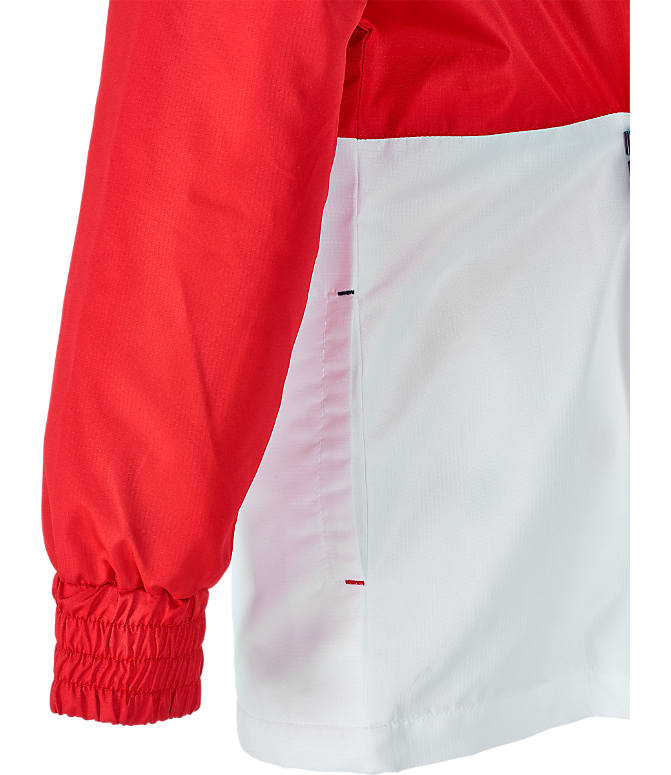 Product 4 view of Boys' Fila Half-Zip Windbreaker in Red/Navy/White