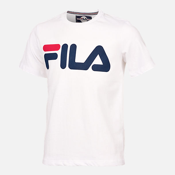Front view of Kids' Fila Heritage Logo T-Shirt in White