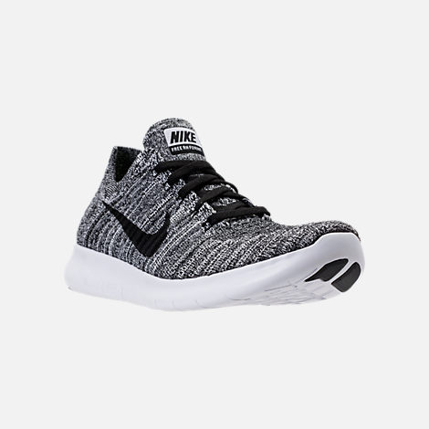 Three Quarter view of Women's Nike Free RN Flyknit Running Shoes