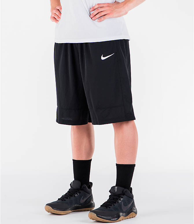 Detail 1 view of Men's Nike Fastbreak Basketball Shorts in Black/White