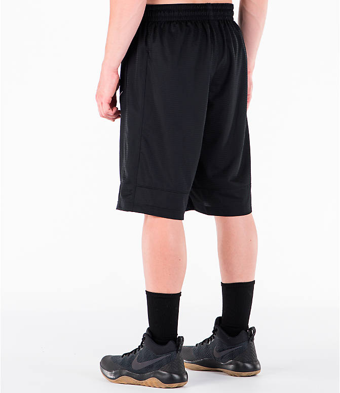 Back Left view of Men's Nike Fastbreak Basketball Shorts in Black/White