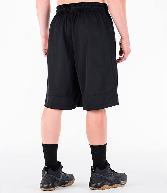 Back Right view of Men's Nike Fastbreak Basketball Shorts in Black/White