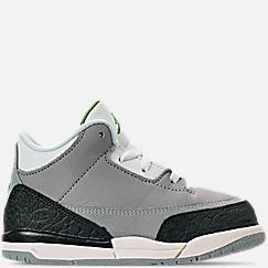 Kids' Toddler Jordan Retro 3 Basketball Shoes