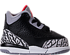 Boys' Toddler Jordan Retro 3 Basketball Shoes