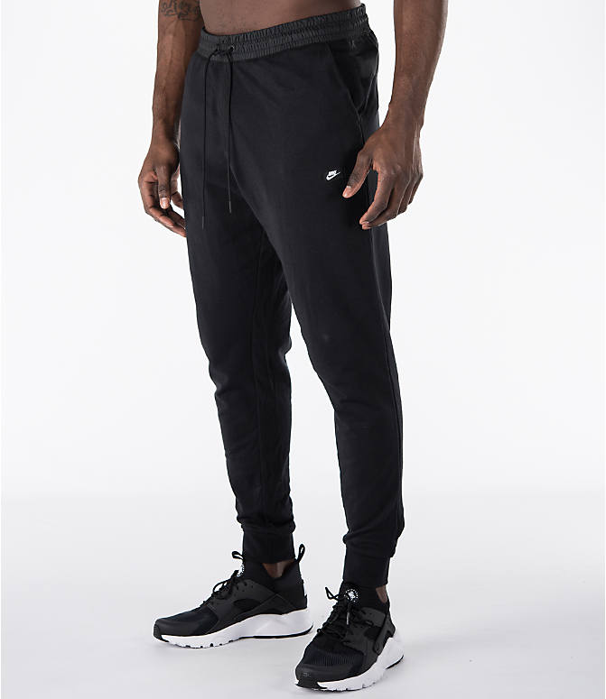 Front Three Quarter view of Men's Nike Sportswear Modern Jogger Pants in Black