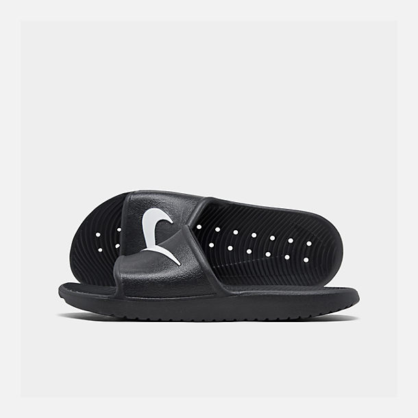 Right view of Men's Nike Kawa Slide Sandals in Black
