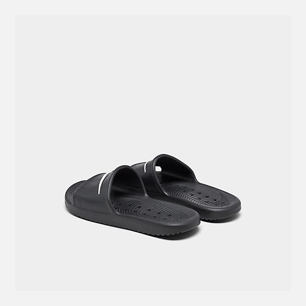 Left view of Men's Nike Kawa Slide Sandals in Black