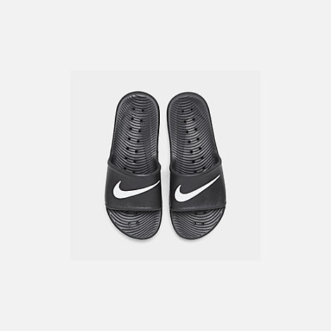 Back view of Men's Nike Kawa Slide Sandals in Black