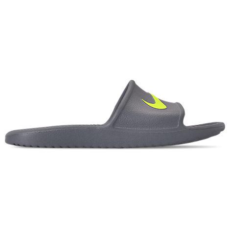 Nike Mens Kawa Slide Sandals, Grey