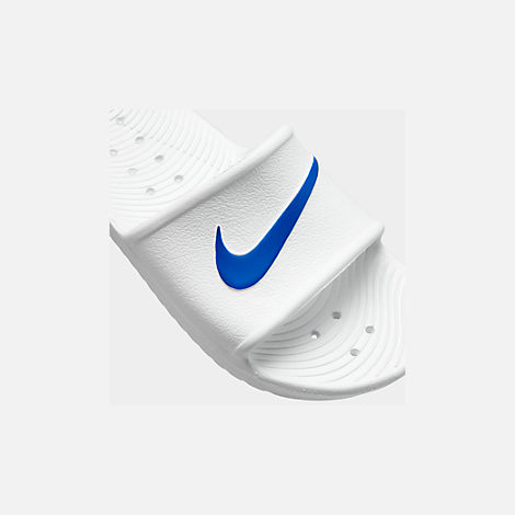 Front view of Men's Nike Kawa Slide Sandals in White