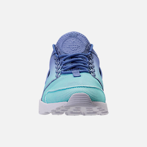 Front view of Women's Nike Air Huarache Run Ultra Breathe Casual Shoes in Polar/Still Blue/White