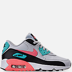 Girls' Big Kids' Nike Air Max 90 Leather Casual Shoes