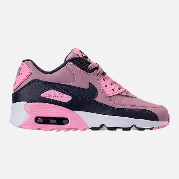 Right view of Girls' Big Kids' Nike Air Max 90 Leather Casual Shoes