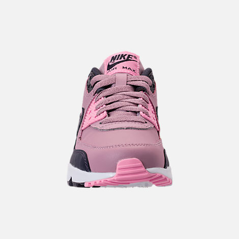 Front view of Girls' Big Kids' Nike Air Max 90 Leather Casual Shoes