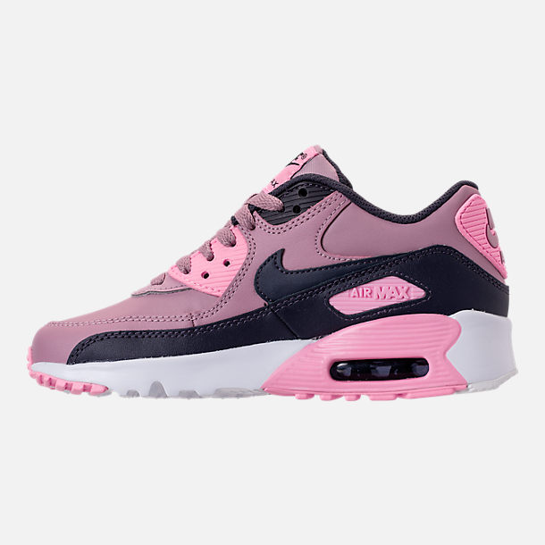 Left view of Girls' Big Kids' Nike Air Max 90 Leather Casual Shoes