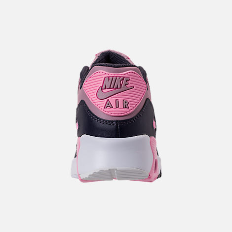 Back view of Girls' Big Kids' Nike Air Max 90 Leather Casual Shoes