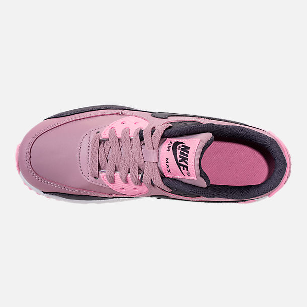 Top view of Girls' Big Kids' Nike Air Max 90 Leather Casual Shoes