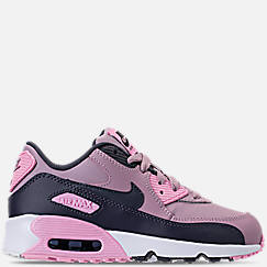 Girls' Little Kids' Nike Air Max 90 Leather Casual Shoes