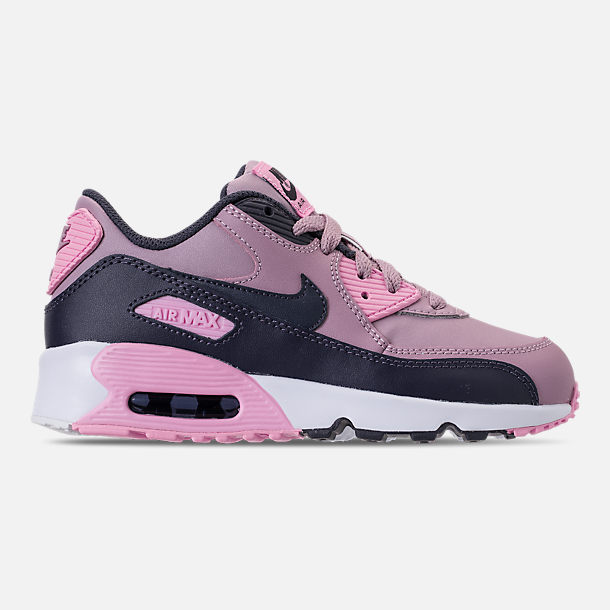 Right view of Girls' Little Kids' Nike Air Max 90 Leather Casual Shoes