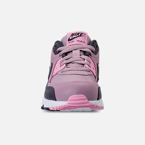 Front view of Girls' Little Kids' Nike Air Max 90 Leather Casual Shoes