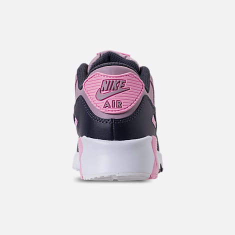 Back view of Girls' Little Kids' Nike Air Max 90 Leather Casual Shoes