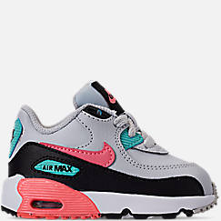 new arrival 842fc a4bb6 Girls  Toddler Nike Air Max 90 Leather Casual Shoes. 1