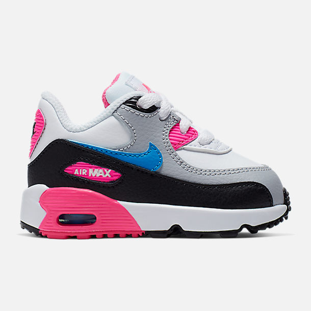 size 40 6439c 16840 Girls' Toddler Nike Air Max 90 Leather Casual Shoes