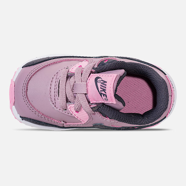online retailer 9d167 f2bd9 good top view of girls toddler nike air max 90 leather casual shoes in  elemental rose