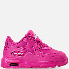 best website faa2a fe743 Girls  Toddler Nike Air Max 90 Leather Casual Shoes