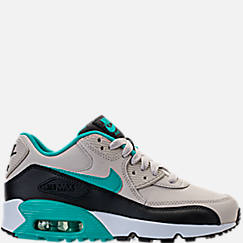 Kids' Grade School Nike Air Max 90 Leather Running Shoes