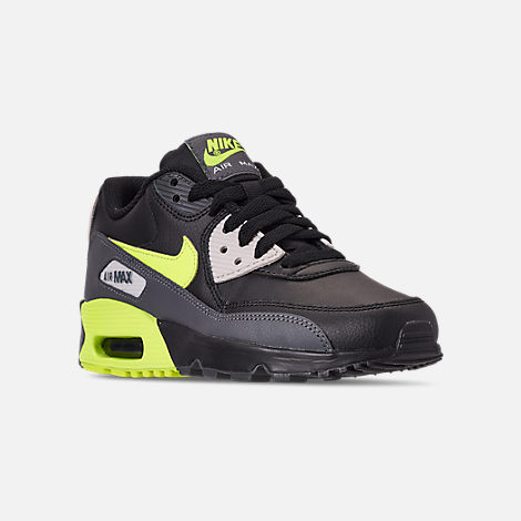 brand new 97b4a a54a8 Three Quarter view of Big Kids  Nike Air Max 90 Leather Casual Shoes in Dark