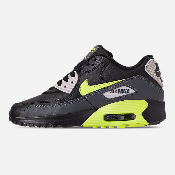 new product c2d35 841ee Left view of Big Kids  Nike Air Max 90 Leather Casual Shoes in Dark Grey