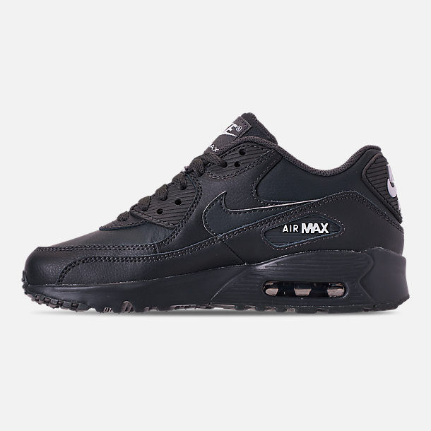 78ade0b4d8 Left view of Big Kids' Nike Air Max 90 Leather Casual Shoes in Anthracite/