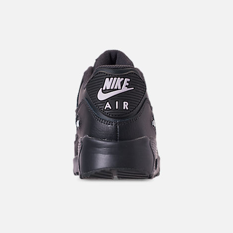 on sale 3ac2d a8db8 Back view of Big Kids' Nike Air Max 90 Leather Casual Shoes in Anthracite/