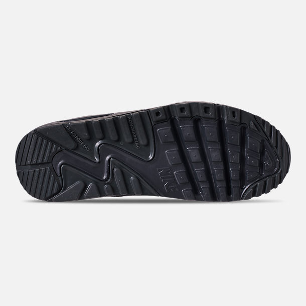 b0e6ba65f20a5 Bottom view of Big Kids' Nike Air Max 90 Leather Casual Shoes in Anthracite/