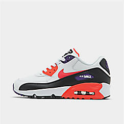 40e76b804ba1c Big Kids' Nike Air Max 90 Leather Casual Shoes