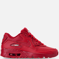 b57e2a601512 Big Kids  Nike Air Max 90 Leather Casual Shoes