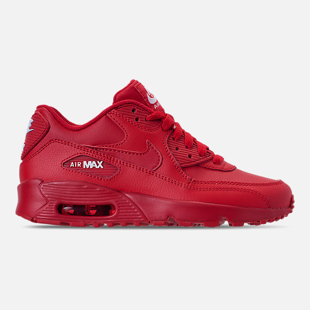 premium selection 9a4d9 7a750 Big Kids' Nike Air Max 90 Leather Casual Shoes