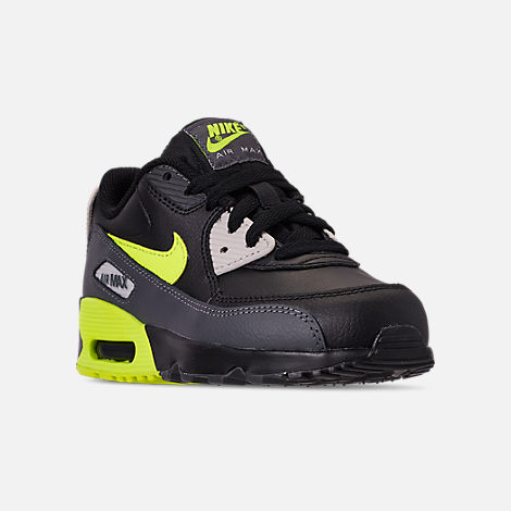 c2a3d38374a3 Three Quarter view of Little Kids  Nike Air Max 90 Leather Casual Shoes in  Dark