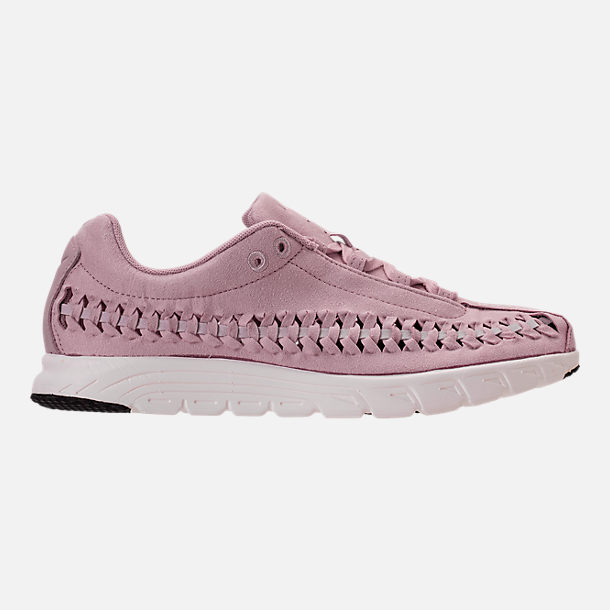 Right view of Women's Nike Mayfly Woven Casual Shoes in Particle Rose/Grey/Black