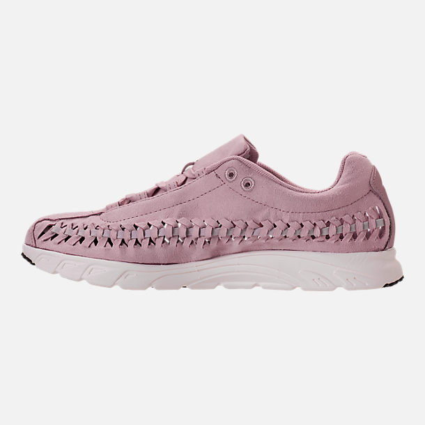 Left view of Women's Nike Mayfly Woven Casual Shoes in Particle Rose/Grey/Black