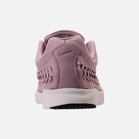 Back view of Women's Nike Mayfly Woven Casual Shoes in Particle Rose/Grey/Black