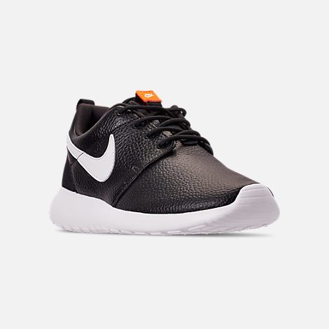 bf6ad7294f7b Three Quarter view of Women s Nike Roshe One Premium Casual Shoes in  Black White