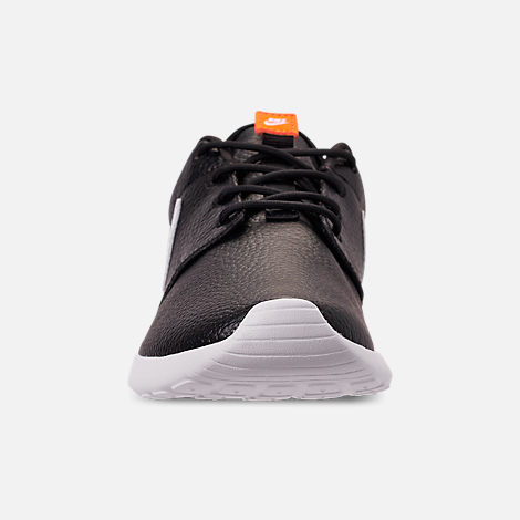 online retailer bee90 f8a35 Front view of Women s Nike Roshe One Premium Casual Shoes in Black White  Total