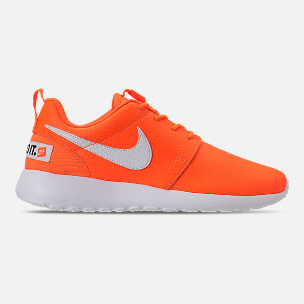 Right view of Women's Nike Roshe One Premium Casual Shoes in Total Orange/White/Black