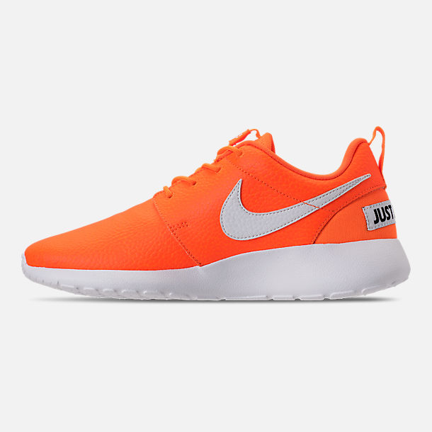 Left view of Women's Nike Roshe One Premium Casual Shoes in Total Orange/White/Black