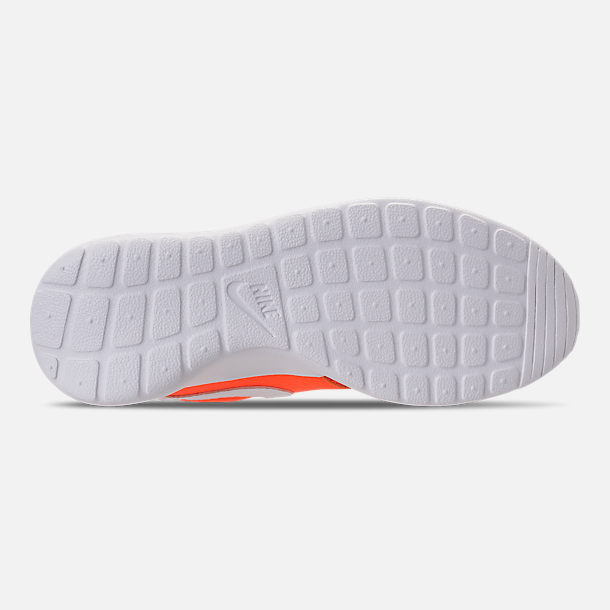 Bottom view of Women's Nike Roshe One Premium Casual Shoes in Total Orange/White/Black