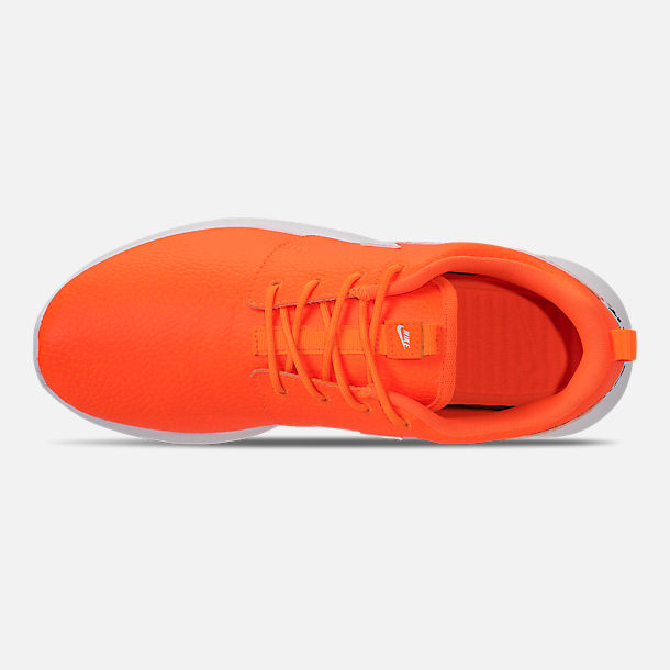 427138207cd6b Top view of Women s Nike Roshe One Premium Casual Shoes in Total Orange  White