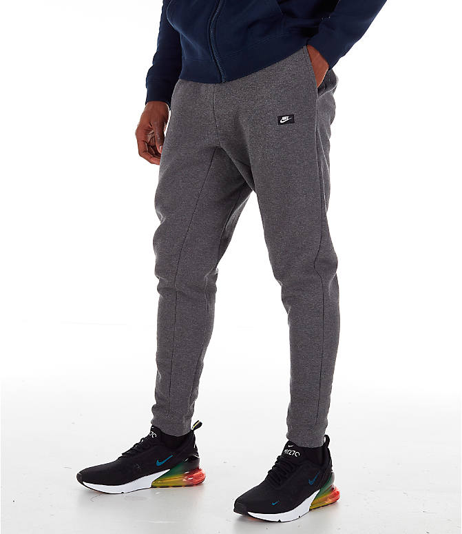 3439c6dd1b5a60 Front view of Men s Nike Sportswear Modern Jogger Pants in Charcoal