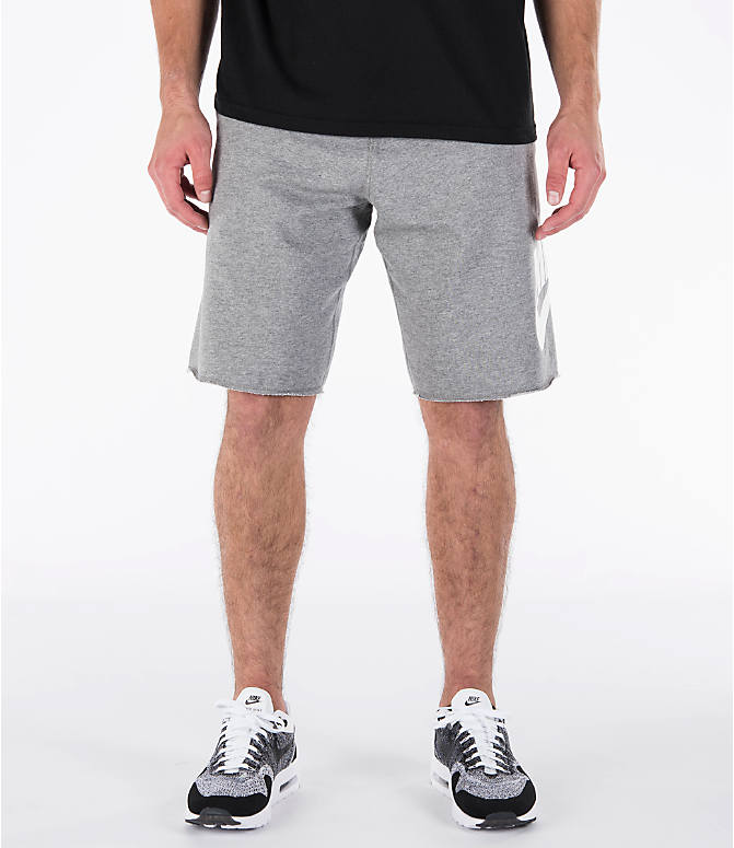 Front view of Men's Nike Sportswear GX Shorts in Carbon Heather